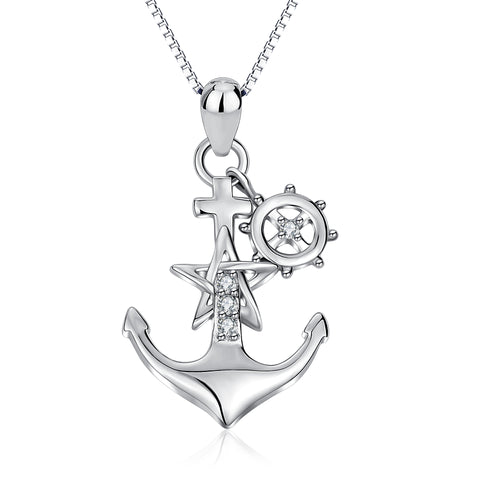 Pirate Anchor Necklace Nautical, Seaman Essentials Sterling Silver Necklace