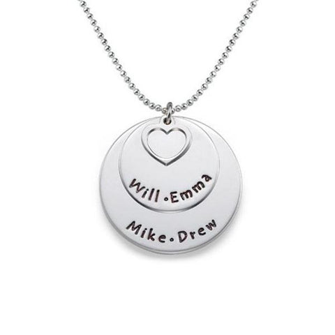 "You and Me Personalized Engravable Necklace -Adjustable 16""-20"""