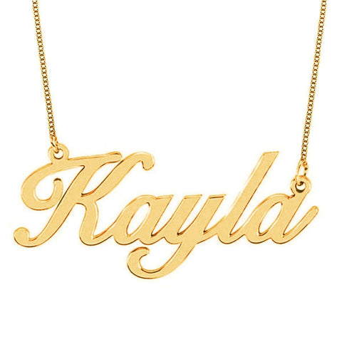 """Kayla"" Personalized Classic Name Necklace"
