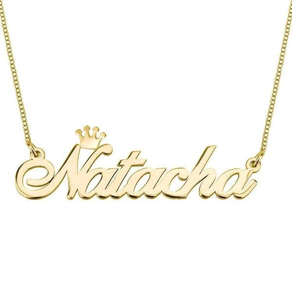 "Personalized Name Necklace with Crown Adjustable 16""-20"""