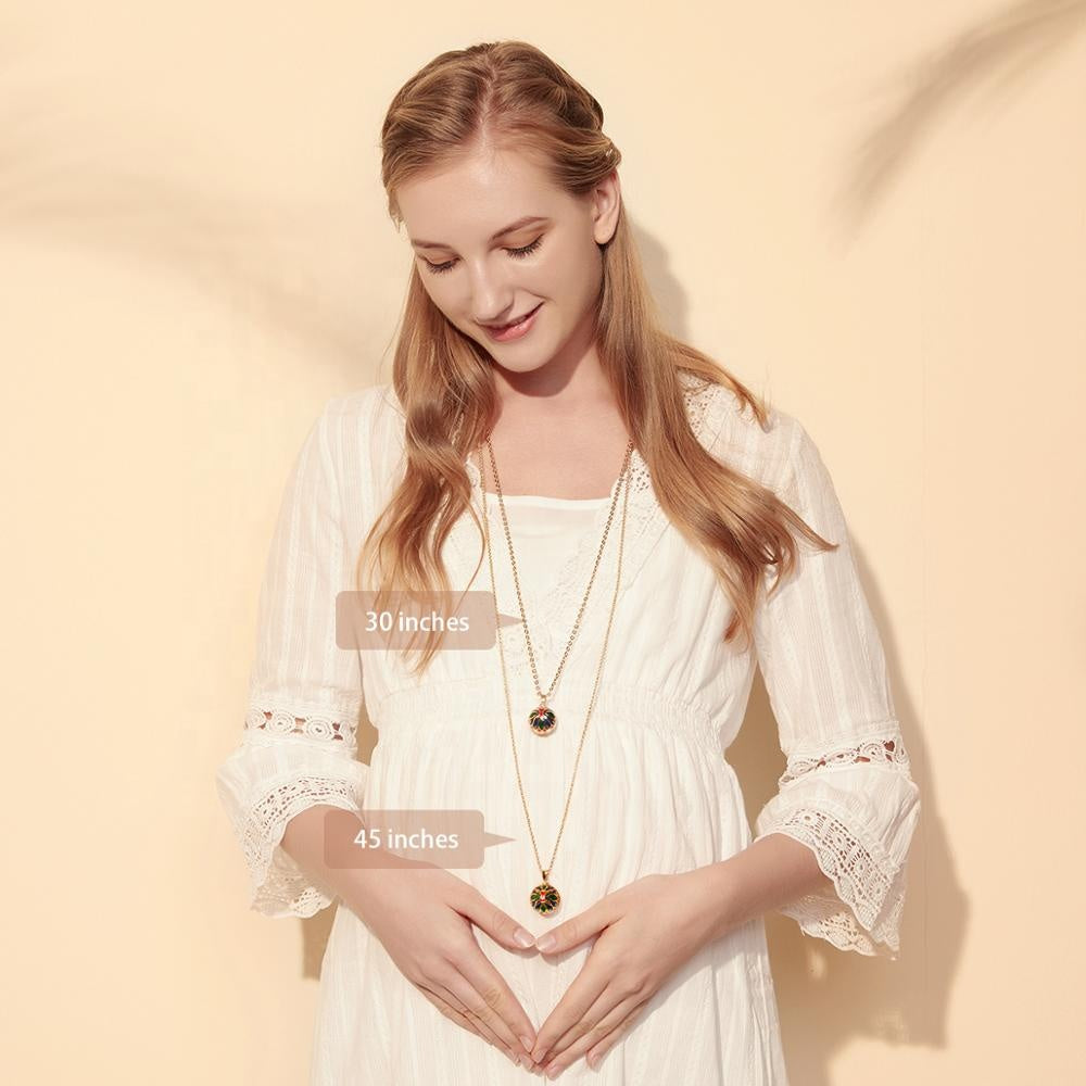 Angle Callers Chime Harmony Pregnancy Mexican Bola Ball Pendant Necklace