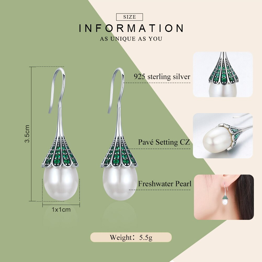 High Quality 925 Sterling Silver Elegant Clear CZ Hanging Drop Earrings for Women Sterling Silver Jewelry