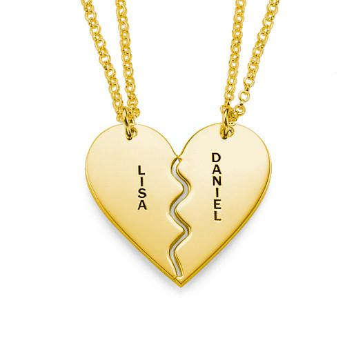 Personalized Breakable Heart Necklaces Name Jewelry