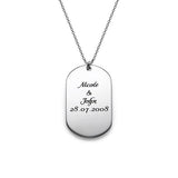 925 Sterling Silver Personalized Dog Tag Necklace