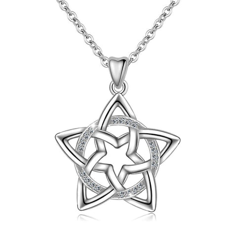 Star Pendant Flower Necklace