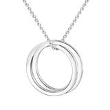 "925 Sterling Silver Personalized Engravable Double Loop Necklace Adjustable 16""-20"""