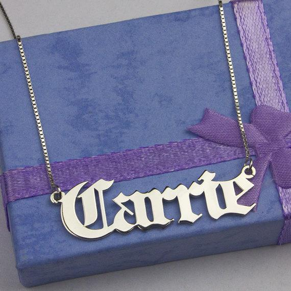 Personalized Custom Simple Name Necklace 18""