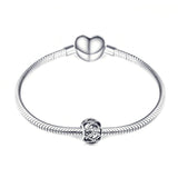 Fashion 925 Sterling Silver Hollow Charm For Bracelet and Necklace