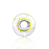 925 Sterling Silver Yellow Built-in Bubble Glass Charm for Bracelet and Necklace