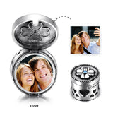 Personalized 925 Sterling Silver Cylinder Box Color Photo Charm