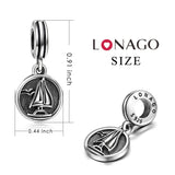 Sterling Silver Sailboat Charm for Bracelet and Necklace
