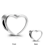 Personalized 925 Sterling Silver Double Sides Love Heart Color Photo Charm