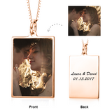 "You're My Angel -10K/14K Gold Personalized Color Photo&Text Necklace Adjustable 16""-20"""