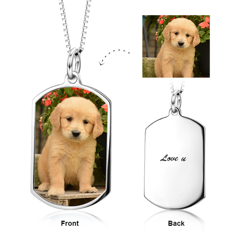Color Photo Personalized Necklace for Pets