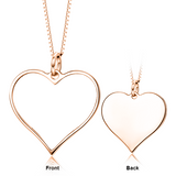 "I Must Have You - Copper/925 Sterling Silver Personalized Color Photo&Text Necklace Adjustable 16""-20"""