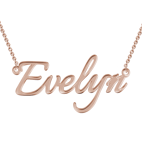 "Personalized ""Evelyn""Style Adjustable 16""-20"" Name Necklace"