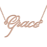 """Grace"" Style Personalized Name Necklace"