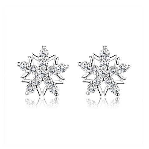 925 Sterling Silver Flower Stud Earring for Women