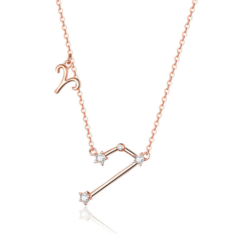 925 Sterling Silver Rose Gold Plated Necklace For Girls