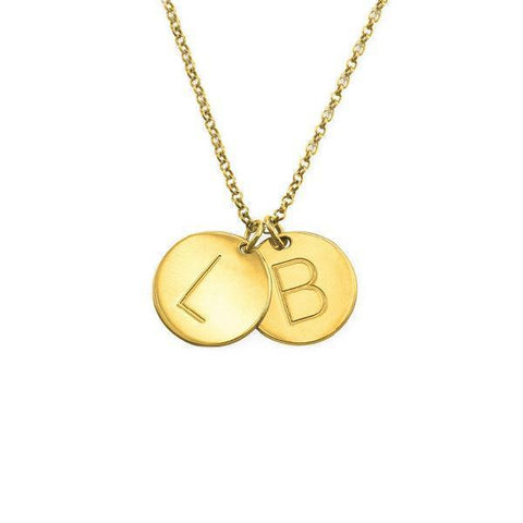 925 Sterling Silver Personalized Initial Charm Necklace