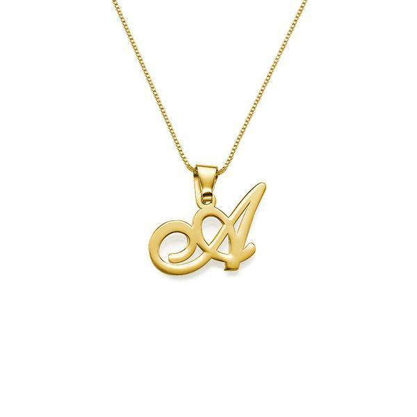 925 Sterling Silver Personalized Initial Pendant Necklace