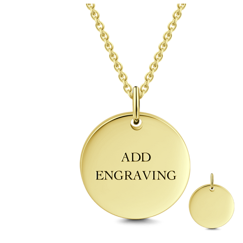 9K GOLD ENGRAVABLE HANG TAG NECKLACE