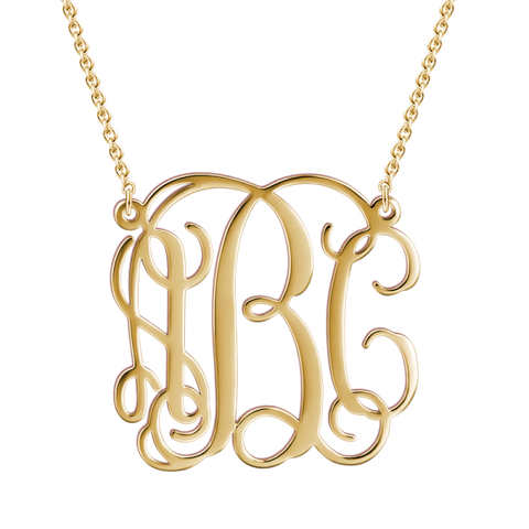 Personalized  Monogram Necklace Chain