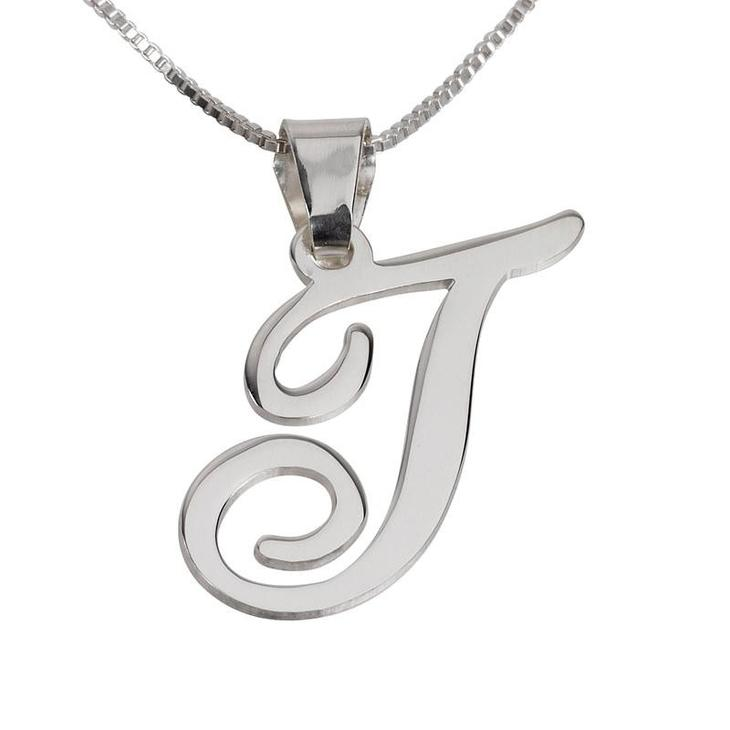 925 Sterling silver/Copper Classic Initial Pendant Personalized Name Necklace-Letters A-Z