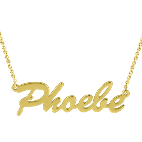 """Phoele"" Personalized Classic Name Necklace Adjustable"