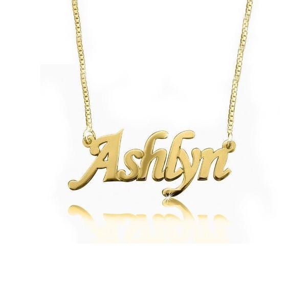 925 Sterling Silver Personalized Classic Name Necklace 18""