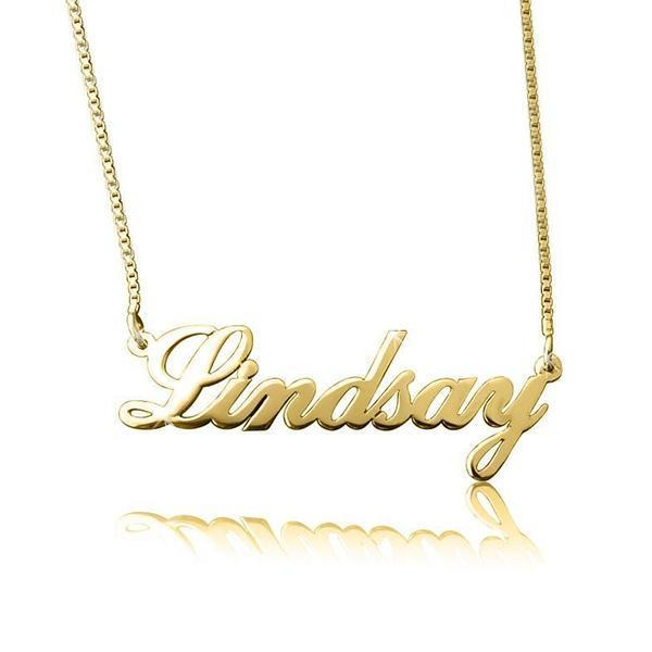 "Personalized Classic Cursive Name Necklace Adjustable 16""-20"""