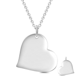 "Forever In My Heart - 925 Sterling Silver Personalized Love Heart Necklace Adjustable 16""-20"""