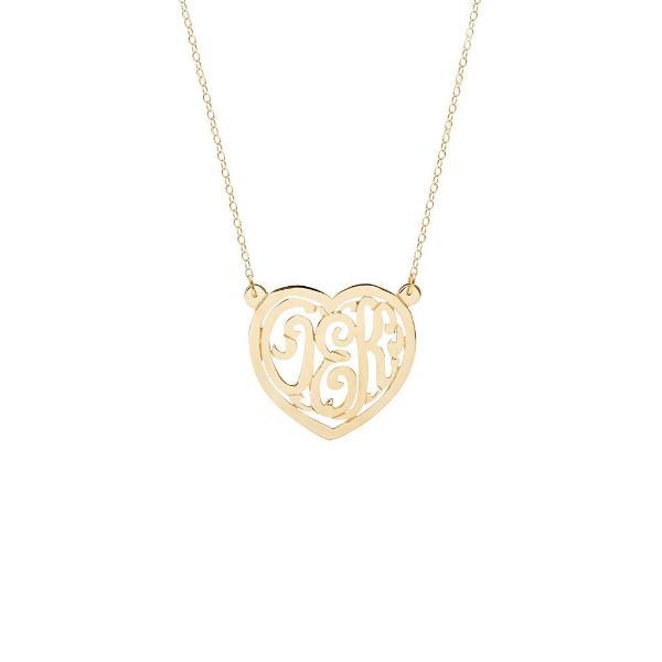 "925 Sterling Silver Custom Monogram Heart Necklace Adjustable 16""-20"" - 925 Sterling Silver OEM And Customization"