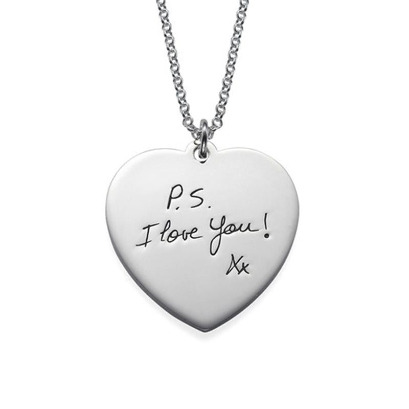 "Forever In My Heart 925 Sterling Silver Personalized Heart Necklace Adjustable 16""-20"""
