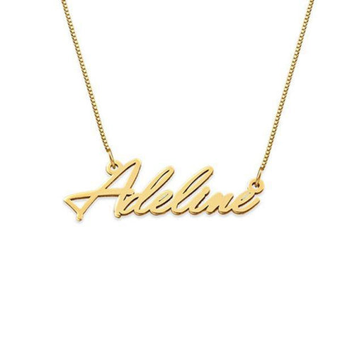 "Personalized Classic Name Necklaces Chain 16""-20"""