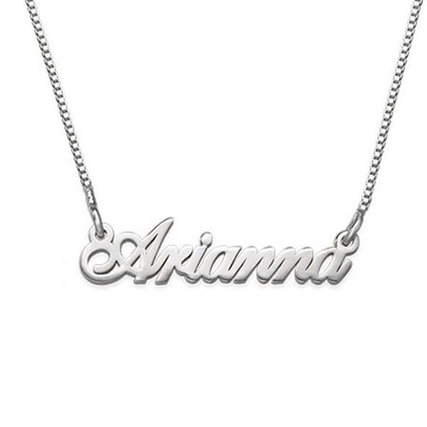 Personalized Tiny Classic Name Necklaces Adjustable Chain