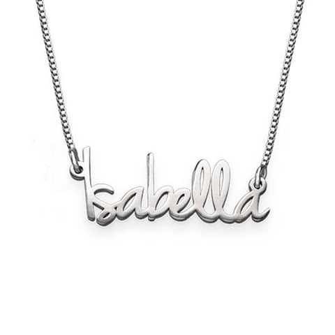 """Isabella""Personalized Tiny Name Necklaces"