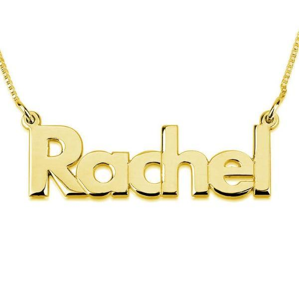 "Personalized Bold Name Necklace Adjustable Chain 16""+2"""