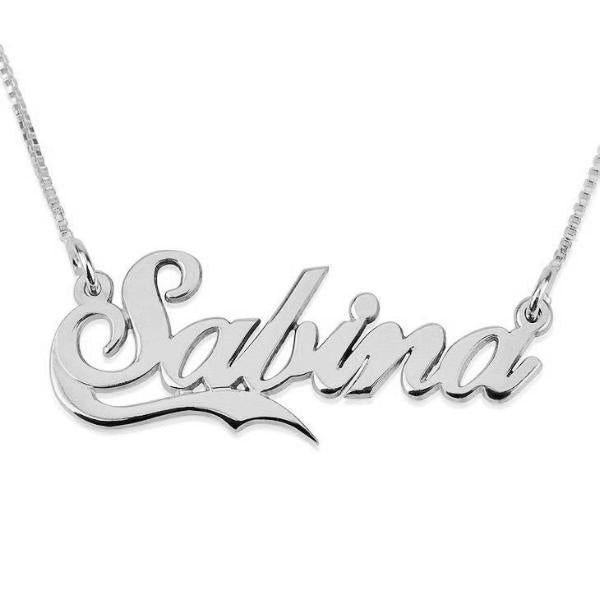 "Personalized Names Necklace With Fancy Underline Adjustable Chain 16""-20"""