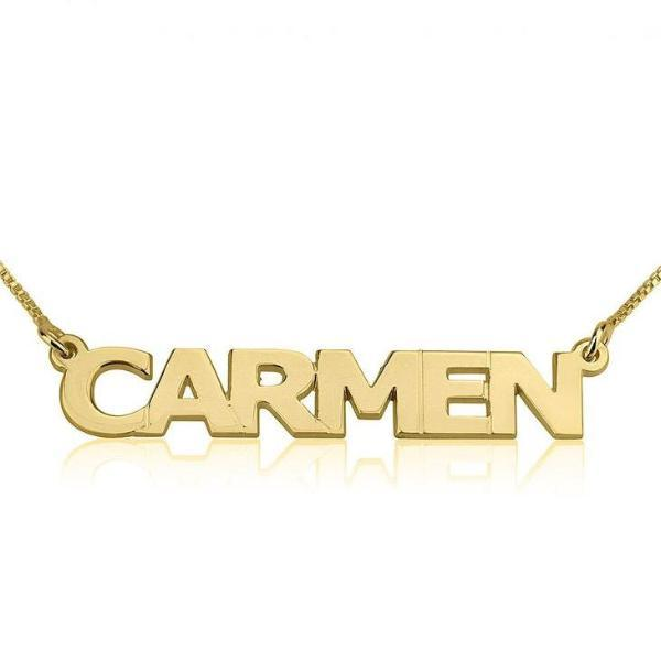 "Personalized Capital Letters Names Necklace Adjustable Chain 16""-20"""