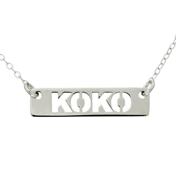"925 Sterling Silver Personalized Name Bar Necklace Adjustable 16""-20"""