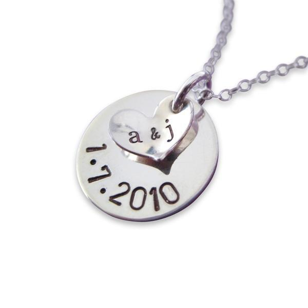 "925 Sterling Silver Personalized A Date to Remember Charm Necklace Adjustable 16""-20"" - 925 Sterling Silver OEM And Customization"