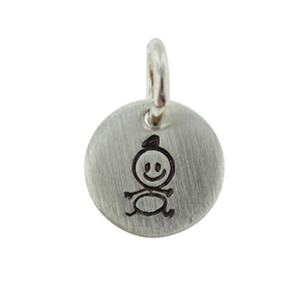 925 Sterling Silver Personalized Birthstone Round  Engraved Necklace With A Little Charm Adjustable 16-20""