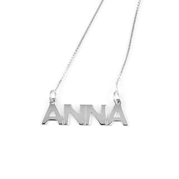 "Personalized Capital Name Necklace Adjustable 16""-20"" - 925 Sterling Silver OEM And Customization"