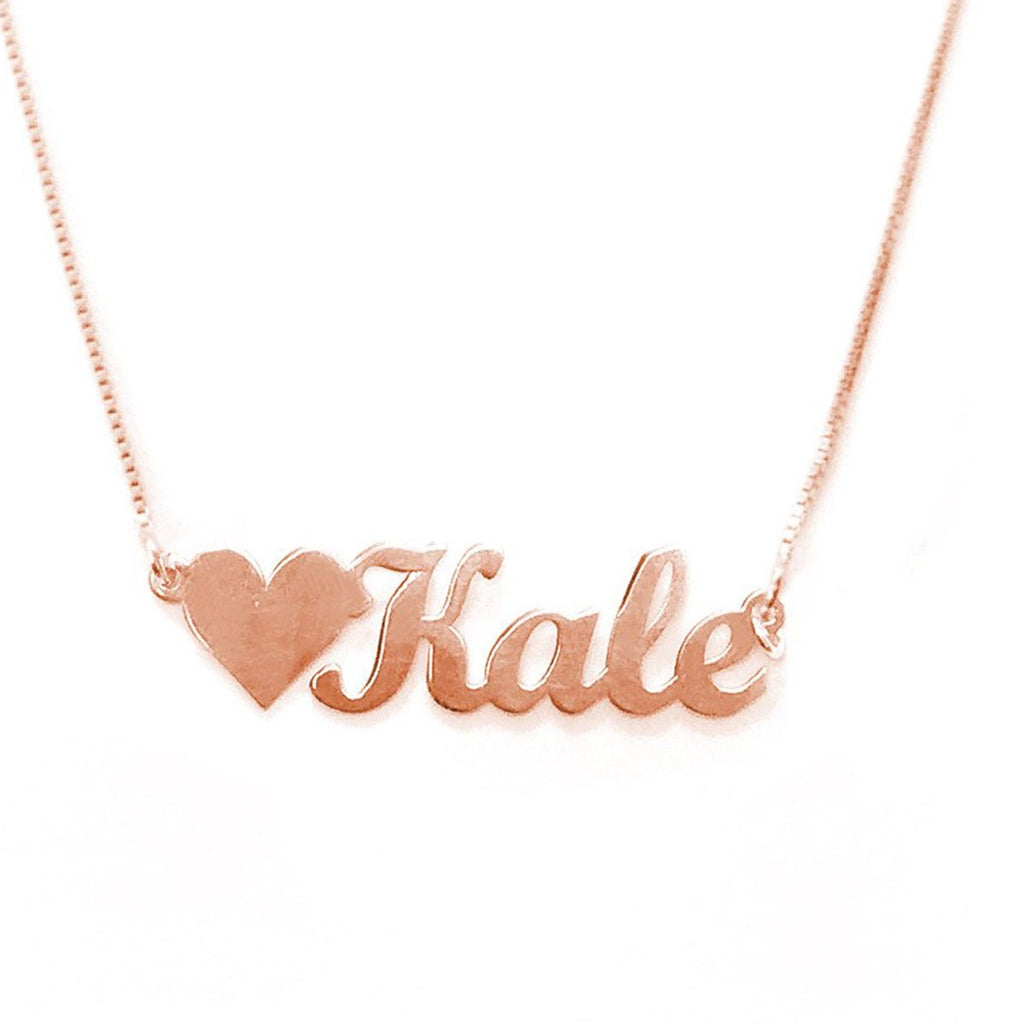 "925 Sterling Silver Personalized Love Kale Necklace Adjustable 16""-20"""