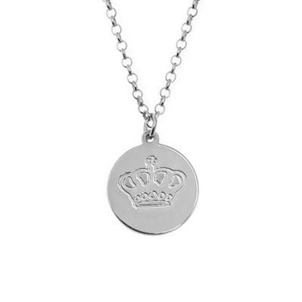 "925 Sterling Silver Personalized Engraved Charm Necklace Adjustable 16""-20"""