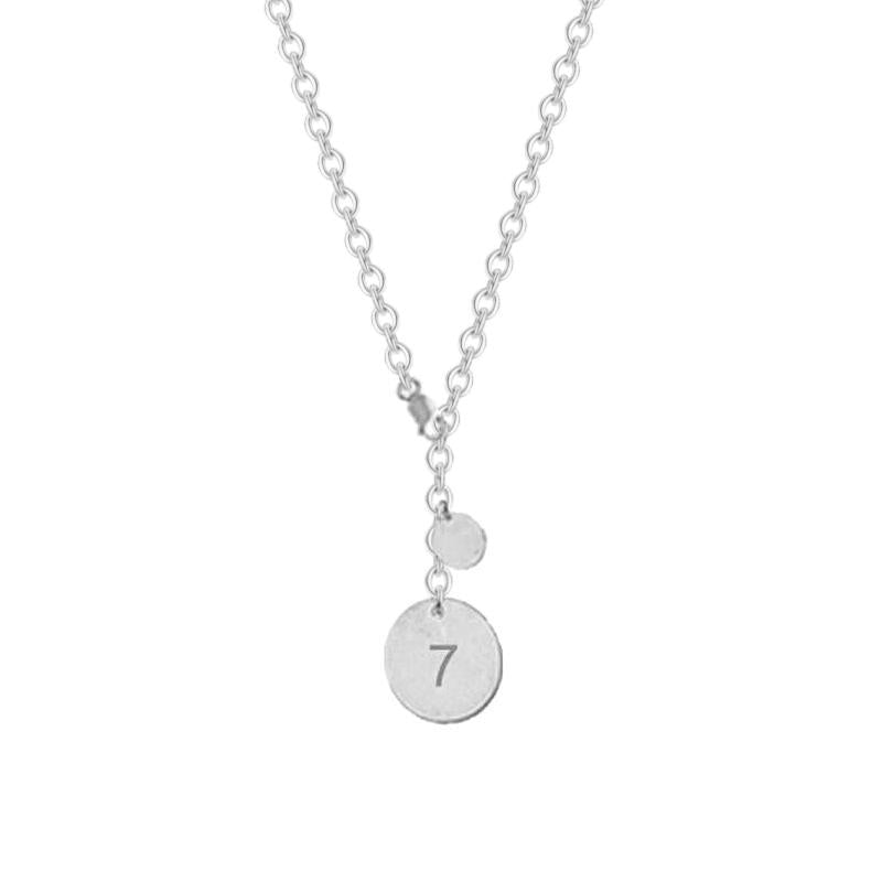 925 Sterling Silver Personalized Love Disc Necklace Adjustable 16-20""