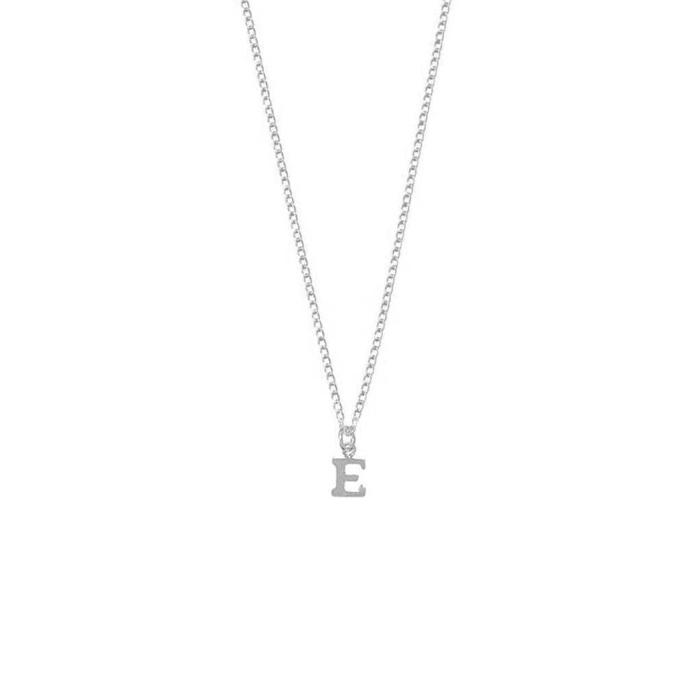 "925 Sterling Silver Personalized Alphabet City Necklace-One Letter Adjustable 16""-20"""