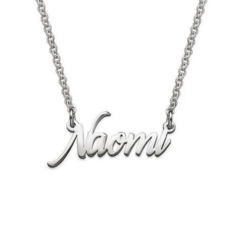 "925 Sterling Silver/Copper/Stainless steel Personalized Tiny Name Necklace Adjustable 16""-20"""
