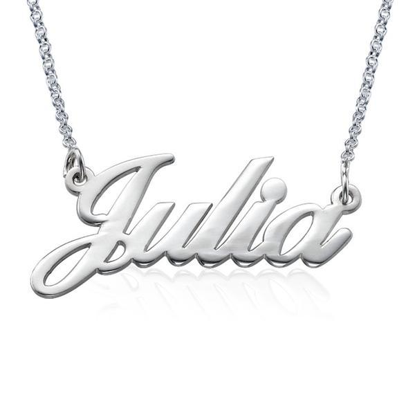 Julia - Sterling Silver Custom Name Necklaces